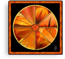 Orange Colour Wheel Canvas Print