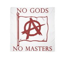 No Gods, No Masters - Anarchy Flag . Scarf