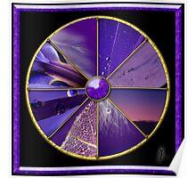 Purple Colour Wheel Poster