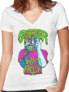 Getter- Wat the Frick  Women's Fitted V-Neck T-Shirt