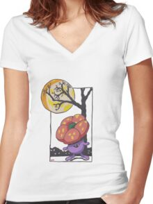Very Vile Halloween Women's Fitted V-Neck T-Shirt