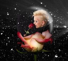 Girl in Rose Snowball by GolemAura