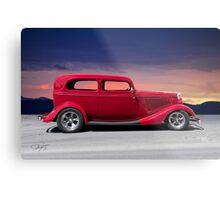 1934 Ford Tudor Sedan 'Profile' Metal Print