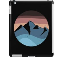 blue mountain orange sunset logo vintage iPad Case/Skin