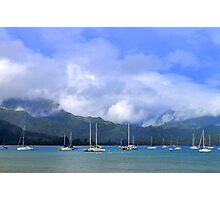 Hanalei Bay In The Morning Photographic Print