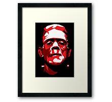 Frankenstein - Vector Framed Print