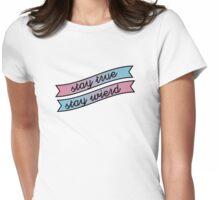 Stay Wierd Womens Fitted T-Shirt