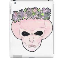 Pink Flower Crown Alien iPad Case/Skin