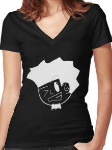 Kid Kuro (white) Women's Fitted V-Neck T-Shirt
