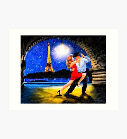 One Last Tango In Paris - Romance Under The Stars Art Print