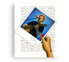 Ed Sheeran Polaroid Canvas Print