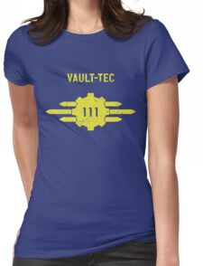 Vault-Tec Vault 111 Womens Fitted T-Shirt