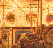 Nighttime Carousel At The Country Fair Sticker