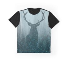 Spirit Animal: Winter Space Deer Graphic T-Shirt