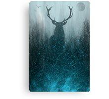 Spirit Animal: Winter Space Deer Canvas Print