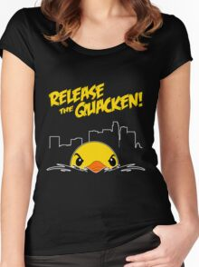 Release The Quacken LA Women's Fitted Scoop T-Shirt