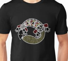 Aboriginal Art Authentic - The Gecko Unisex T-Shirt