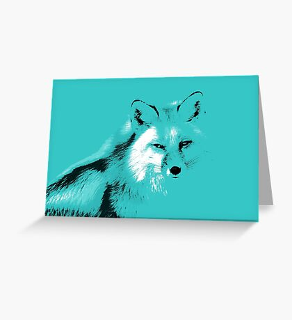 The Turquoise Fox Greeting Card