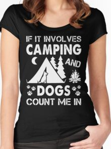 I Love Camping And Dogs Women's Fitted Scoop T-Shirt
