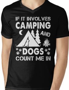 I Love Camping And Dogs Mens V-Neck T-Shirt