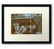 Ukulele Girl Framed Print