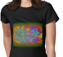 COLORFUL FLAMES Womens Fitted T-Shirt