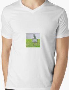 Blue Jay, Enjoy Your Journey Sign, Life Is Good, Nature, Birds Mens V-Neck T-Shirt