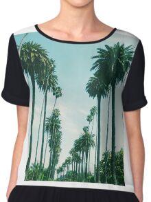 Beverly Hills Palm Trees Chiffon Top