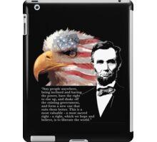 Abrhama Lincoln - Rise up iPad Case/Skin