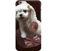 MALTESE PUPPY-JUST PLAYIN WITH MY YO-YO - I WONDER IS ANYBODY WATCHING LOL /PILLOW / TOTE BAG iPhone Case/Skin