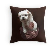 MALTESE PUPPY-JUST PLAYIN WITH MY YO-YO - I WONDER IS ANYBODY WATCHING LOL /PILLOW / TOTE BAG Throw Pillow