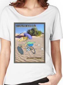 BICYCLE RACING; Yibbitzville Dessert Classic Print Women's Relaxed Fit T-Shirt