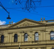 Facade of the Beehive Building - Bendigo, Victoria Sticker