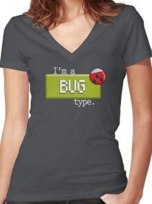 Bug Type - PKMN Women's Fitted V-Neck T-Shirt