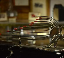 Hood Ornament  /  Antenna   on 1938 Packard Eight by BearheartFoto