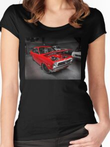 Shane Bugeja's 7sec Rotary Datsun Women's Fitted Scoop T-Shirt