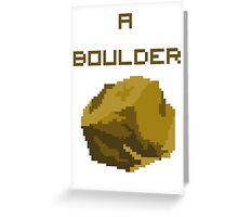 A Pixel Boulder Greeting Card