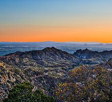 Tucson Mountains at sunset by Beecreekphoto