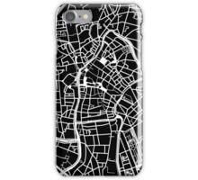 Ghent Map - Black iPhone Case/Skin