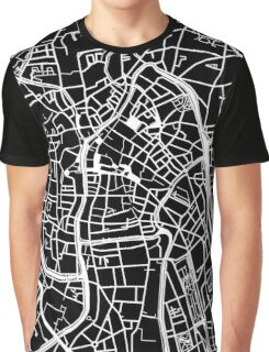 Ghent Map - Black Graphic T-Shirt