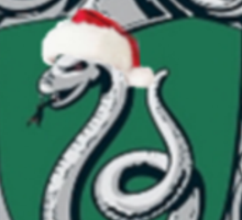 slytherin Christmas card Sticker