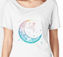 Crescent Moon Mandala illustration Women's Relaxed Fit T-Shirt
