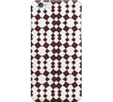 Brown & White Geometric Abstract Design Pattern iPhone Case/Skin