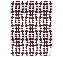 Brown & White Geometric Abstract Design Pattern Poster