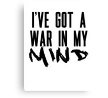 I've Got A War In My Mind Canvas Print