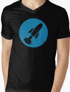 Rocketship Circle Mens V-Neck T-Shirt