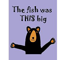 Hilarious Black Bear Telling Fish Story Photographic Print
