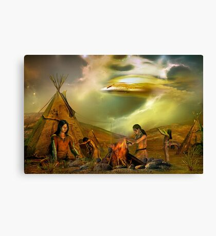legends of the sky people 2 Canvas Print