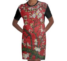 Abstract Daisy Red Background iPhone 4 4s 5 5c 6, ipod, ipad, pillow case Graphic T-Shirt Dress