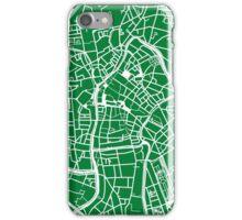 Ghent Map - Green iPhone Case/Skin